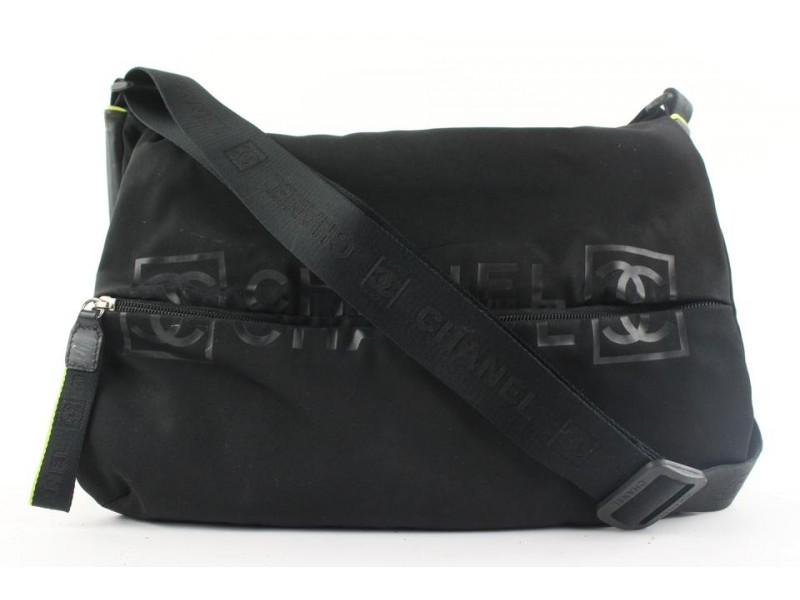 Chanel Black Sports Logo CC Messenger Crossbody 556cks310