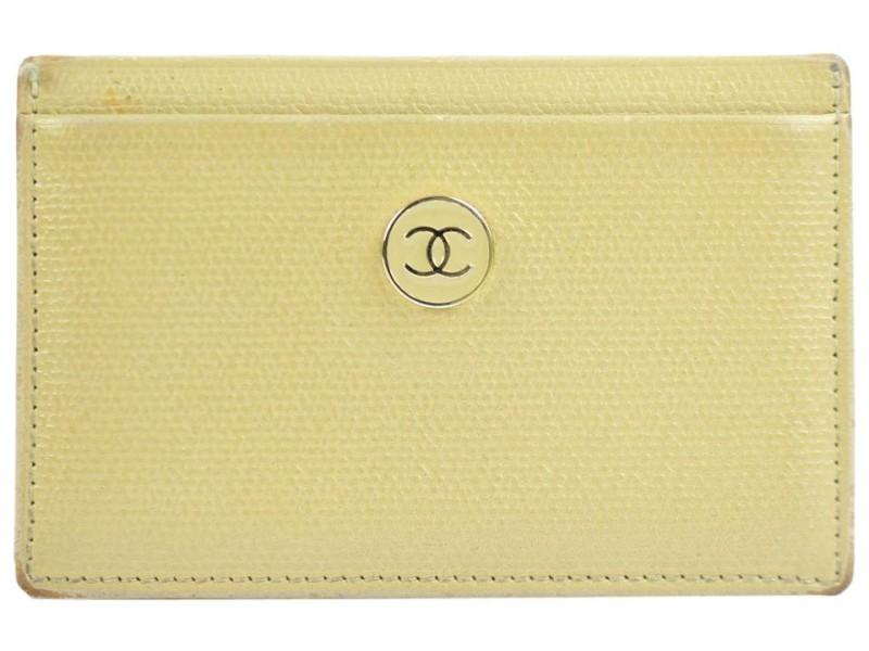 Chanel Beige Cc Button Line Card Case 214869 Wallet