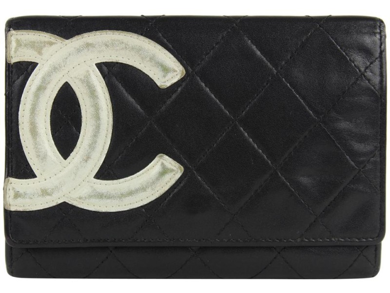 Chanel Black Quilted Leather Cambon Ligne Card Holder 24ccs1223