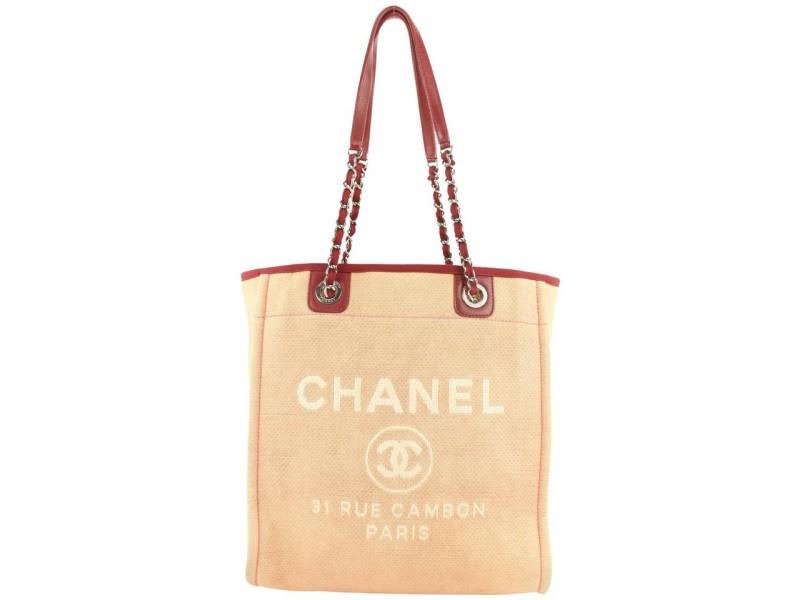Chanel Burgundy Bordeaux North South Deauville Chain Tote Bag 256cas56