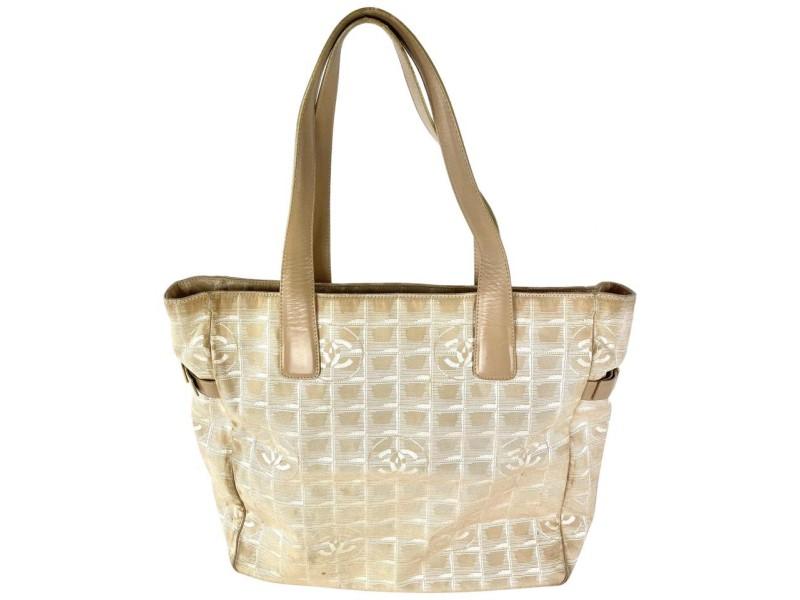 Chanel Beige New Line Tote GM Shopper 3C858