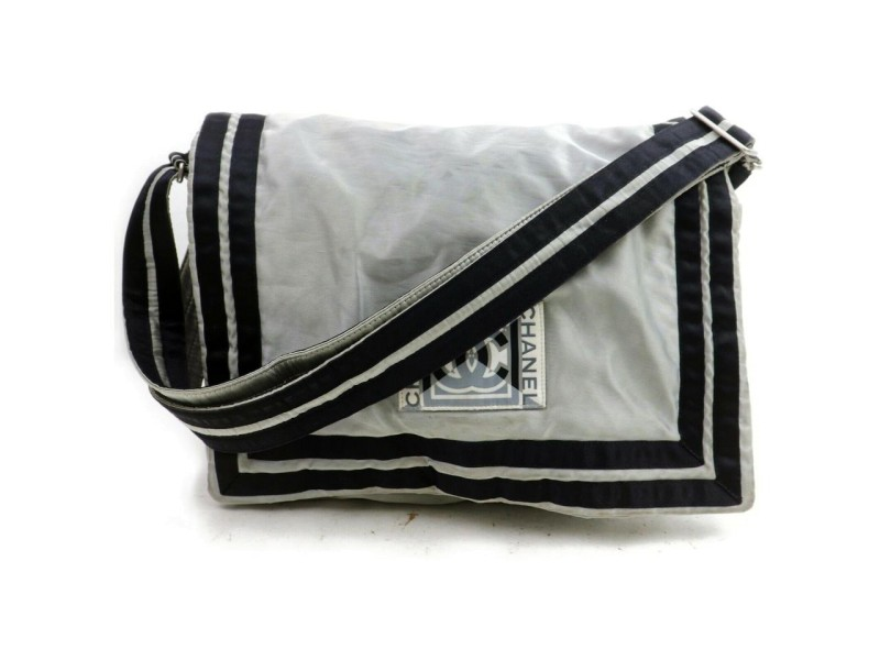 Chanel Silver Sports Logo CC Messenger 858909