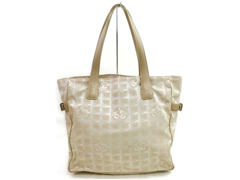 Chanel New Line Gm 872551 Beige Canvas Tote
