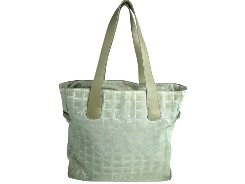 Chanel New Line Gm 8cca63 Beige Canvas Tote