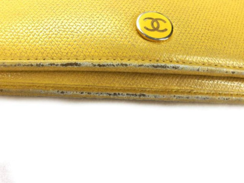 Chanel Yellow Long Bifold 226701 Wallet