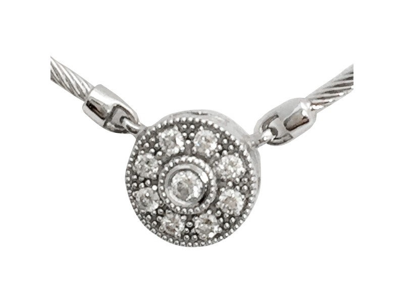 Charriol Flamme Blanche 18K White Gold & Diamond Necklace
