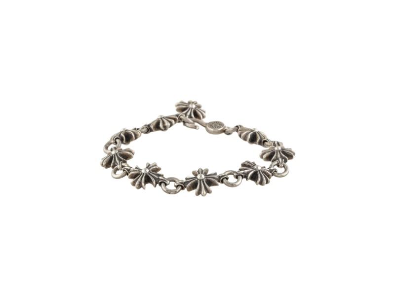 Chrome Hearts Sterling Silver Cross Link Bracelet