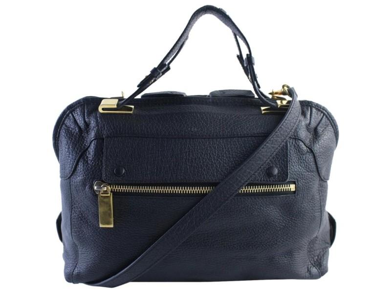 Chloé 2way Attache 11mr0701 Black Leather Cross Body Bag
