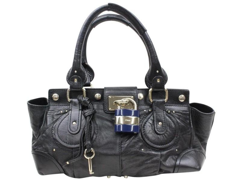Chloé Paddington 866214 Black Leather Shoulder Bag