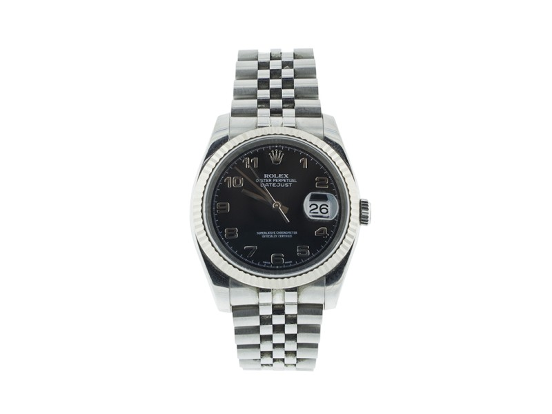 Rolex DateJust 116234 Black Dial Mens Watch