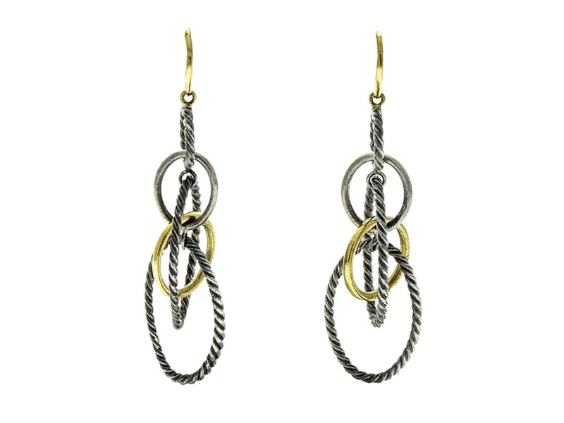 David Yurman 18k Gold Mobile Large Link Earrings