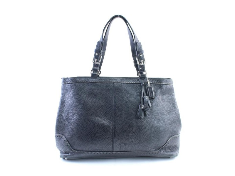 Coach Zip 5mr0215 Black Leather Tote