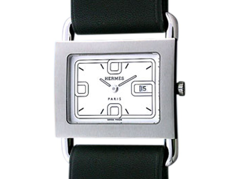 "Hermes ""Barenia"" Stainless Steel Strapwatch"