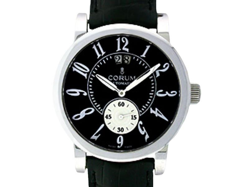 """Corum """"Grande Date"""" Stainless Steel Strap Watch"""
