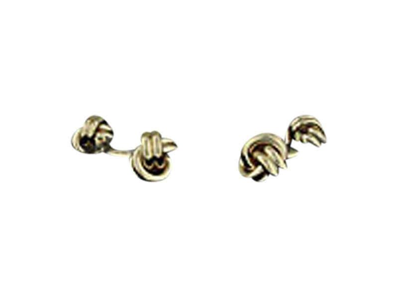 14K Yellow Gold Double Knot Cuff Links.
