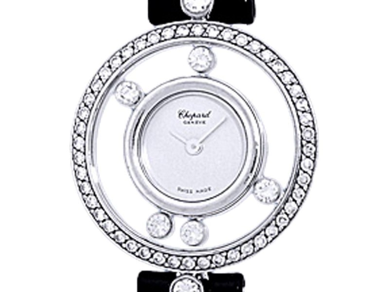 "Chopard ""Happy Diamond"" 18K White Gold Dress Watch"