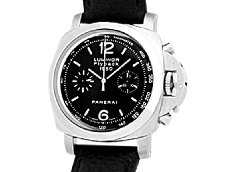 "Panerai 1950 PAM212 ""Luminor Flyback Chronograph"" Stainless Steel Watch"