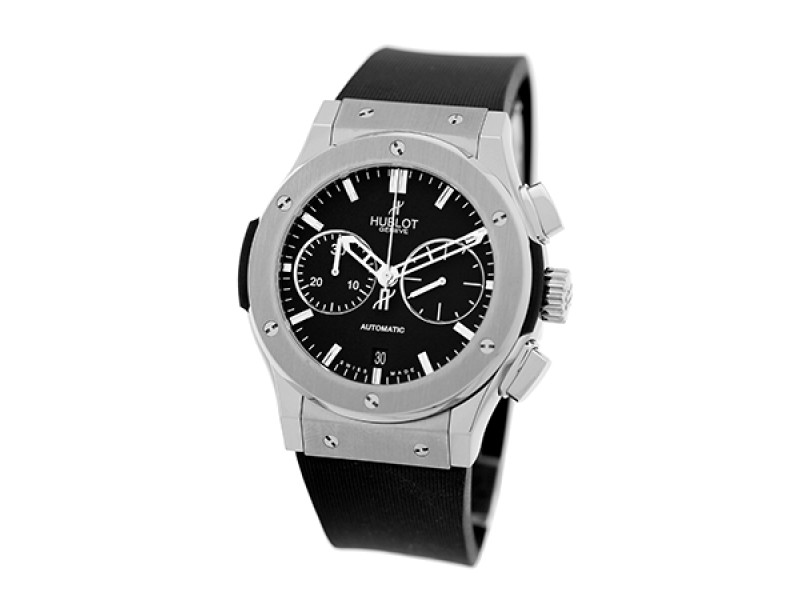 "Hublot ""Classic Fusion""  Chronograph Titanium & Stainless Steel Mens Strap Watch"