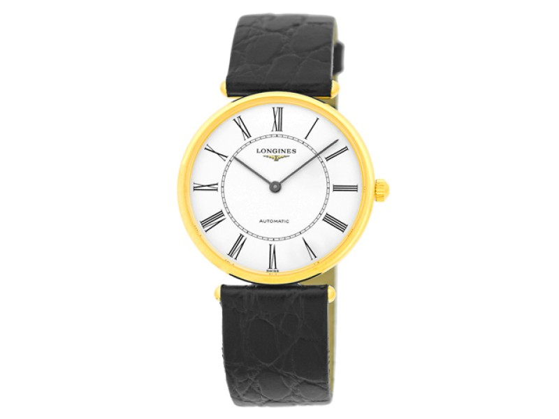 Longines La Grande Classique L4.738.6.11.2 18K Yellow Gold Automatic 34mm Watch