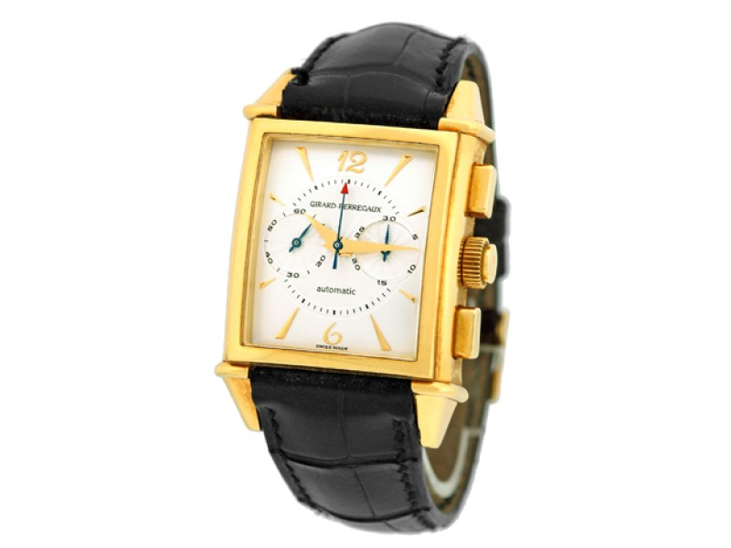 "Girard Perregaux ""Vintage 1945 Chronograph"" 18K Yellow Gold Watch"