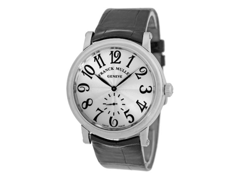 """Franck Muller """"Liberty"""" Stainless Steel Mens Strap Watch"""