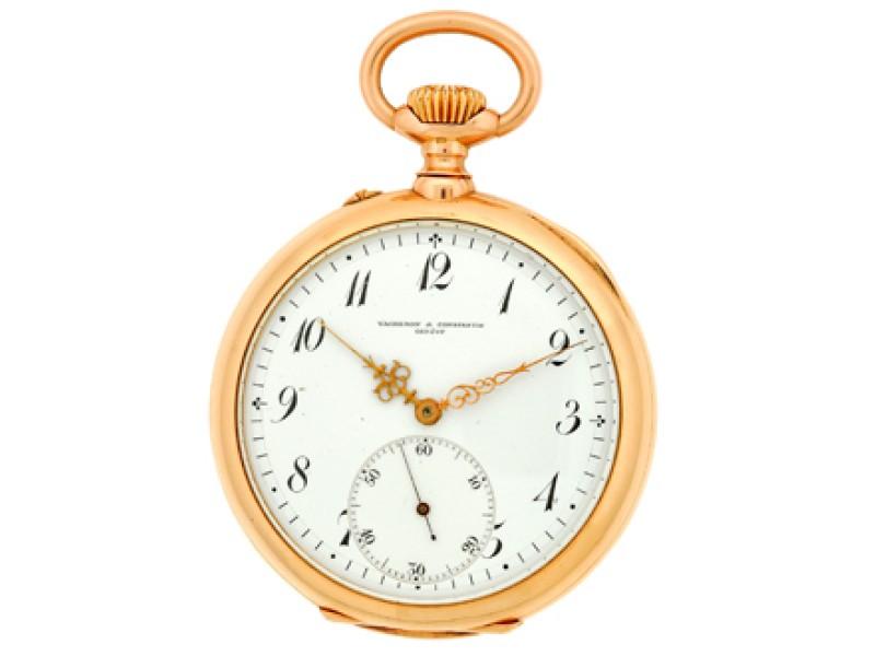 Vacheron Constantin 14K Rose Gold Vintage Pocket Watch
