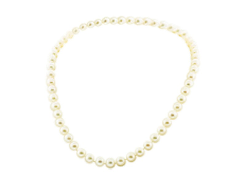 Mikimoto 18K Yellow Gold Clasp Cultured Pearl Necklace
