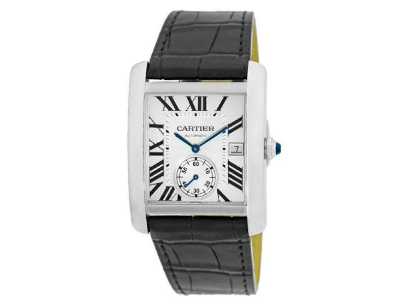 Cartier Tank MC Automatic Stainless Steel Strap Mens Watch