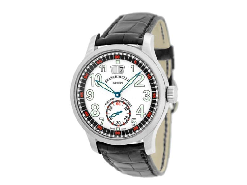 """Franck Muller """"Transamerica Grande Guichet"""" Stainless Steel Strap Watch"""