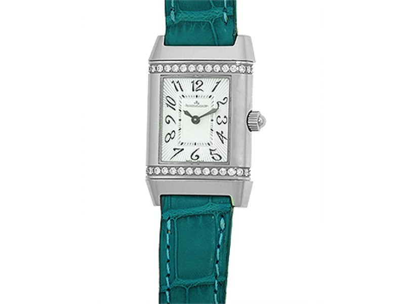 Jaeger LeCoultre Diamond Reverso Florale 265.81.30 Stainless Steel Womens Watch