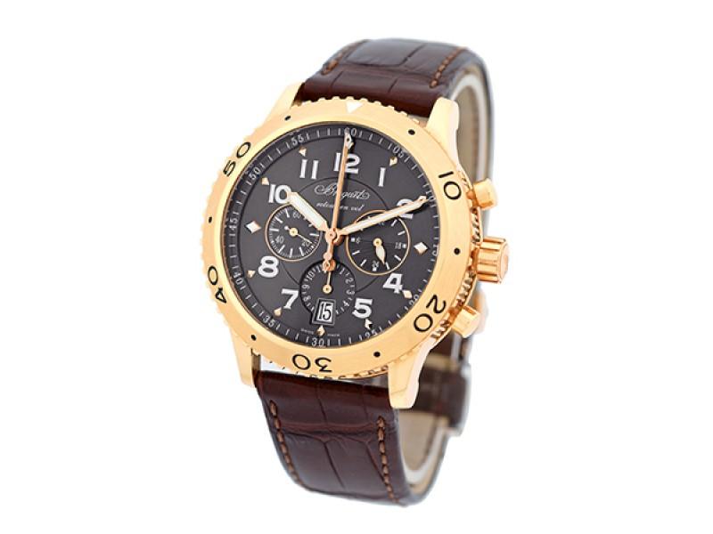 "Breguet ""Transatlantique Type XXI"" Flyback Chronograph 18K Rose Gold Mens Watch"