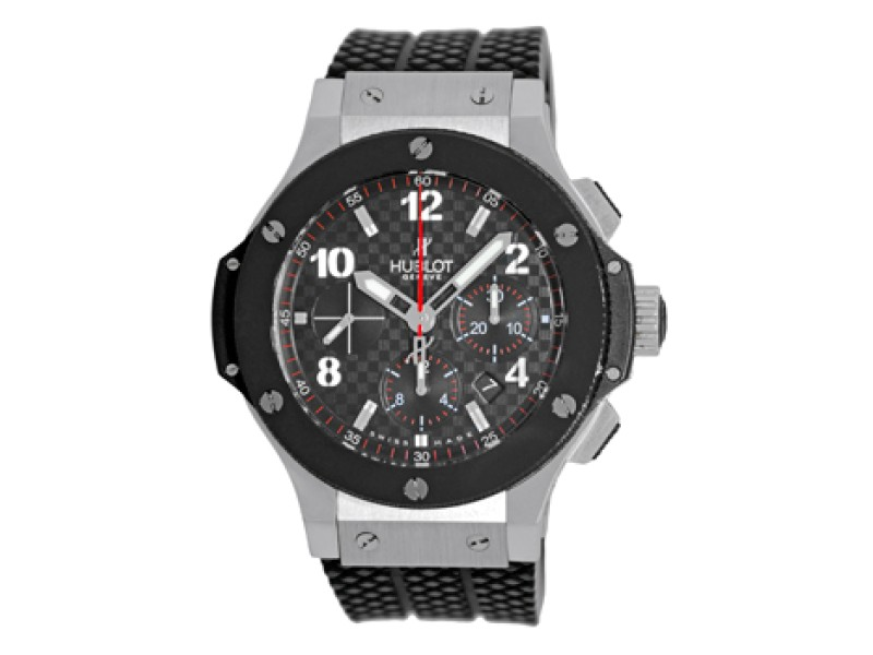 "Hublot ""Big Bang"" Stainless Steel/Ceramic & Rubber Automatic 44mm Mens Watch"