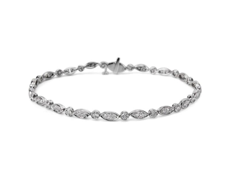 Tiffany & Co. 1.60 Carat Diamond Jazz Bracelet in Platinum
