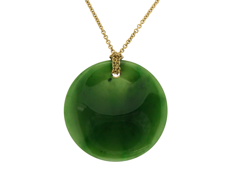 Tiffany co elsa peretti 18k yellow gold round jade pendant elsa peretti 18k yellow gold round jade pendant necklace mozeypictures