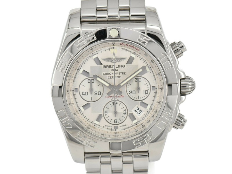 BREITLING Chrono mat 44 AB0110 Silver Dial Automatic Men's Watch