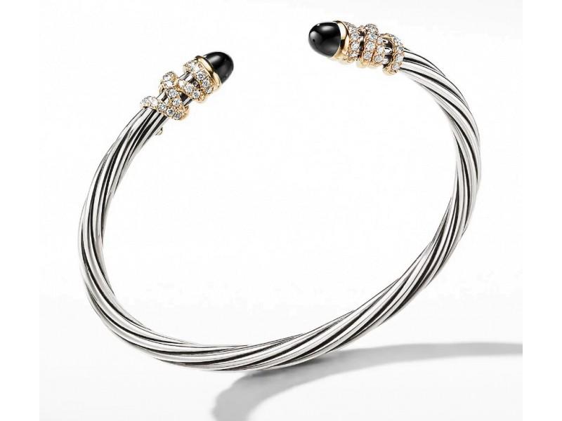 David Yurman Helena Bracelet with Black Onyx and Diamonds