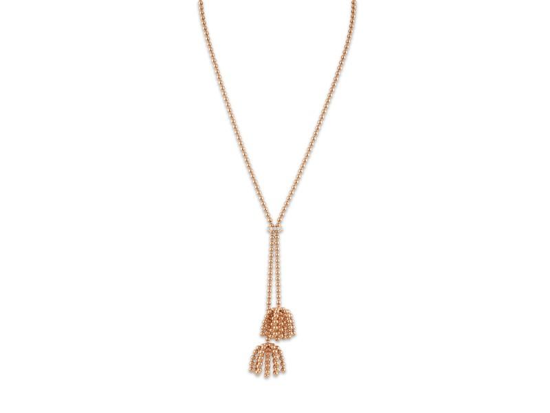 """Cartier Paris """"Nouvelle Vague"""" Necklace 18K Rose Gold Diamond"""