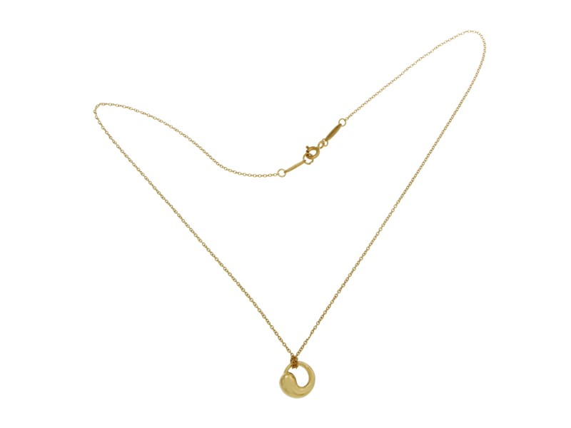Tiffany co 18k yellow gold peretti eternal circle pendant tiffany co 18k yellow gold peretti eternal circle pendant necklace aloadofball Images