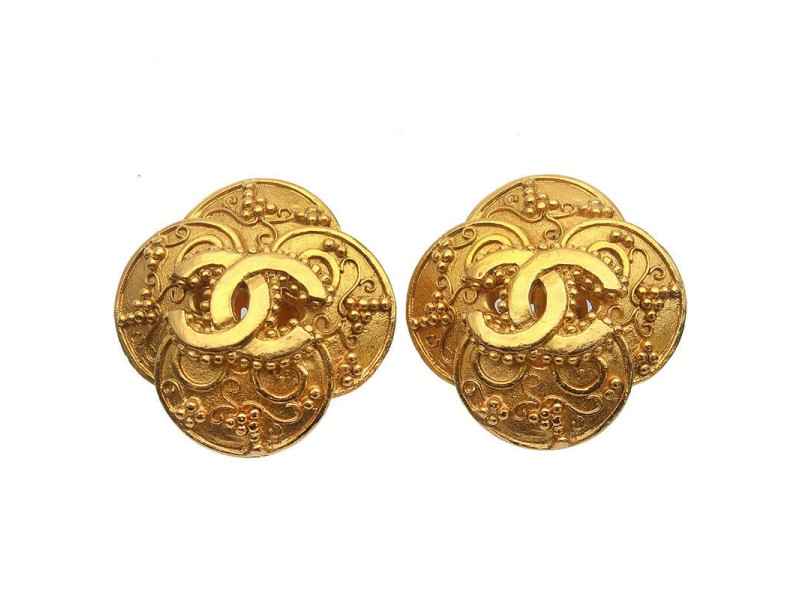 CHANEL Coco Mark Vintage Earrings