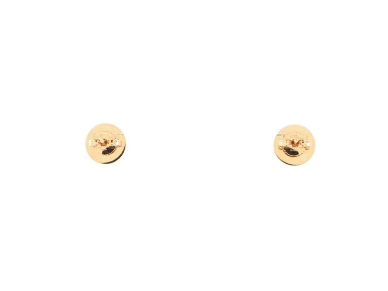 Tiffany & Co. Circle Stud Earrings 18K Rose Gold and Mother of Pearl