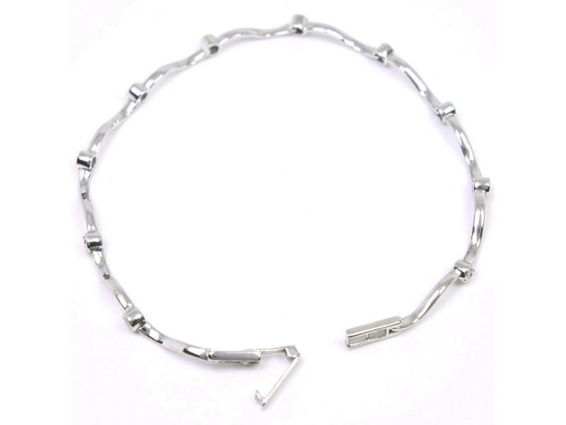 18k white gold Ble Rubbed T Bracelet