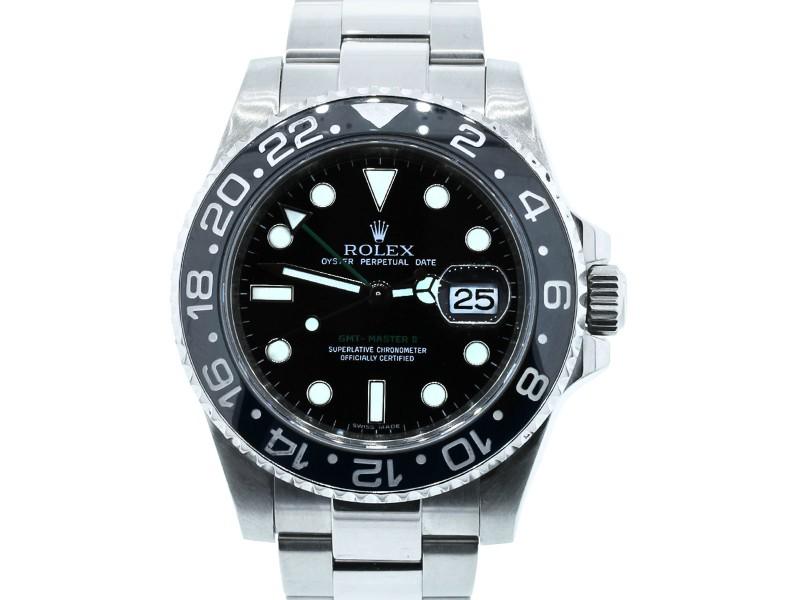 Rolex GMT Master II 116710 Stainless Steel & Black Dial 40mm Unisex Watch