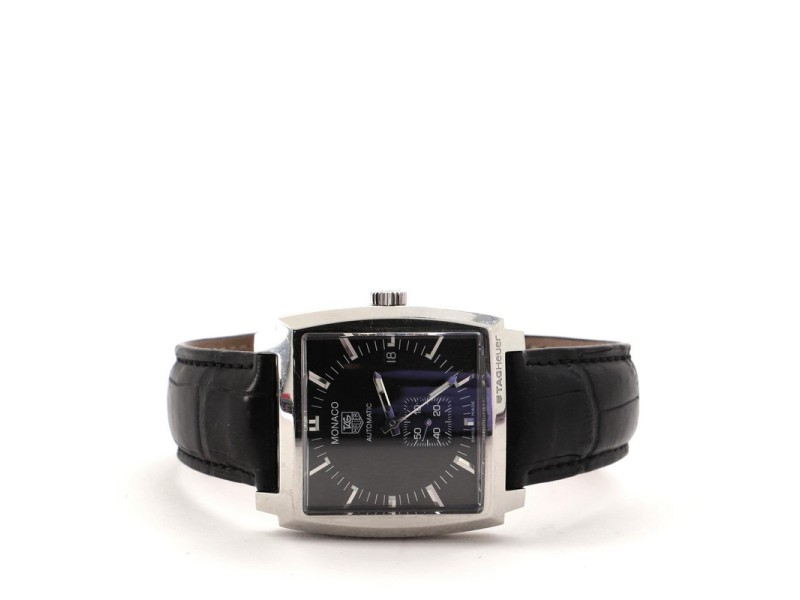 Tag Heuer Monaco Calibre 6 Automatic Watch Stainless Steel and Alligator 37