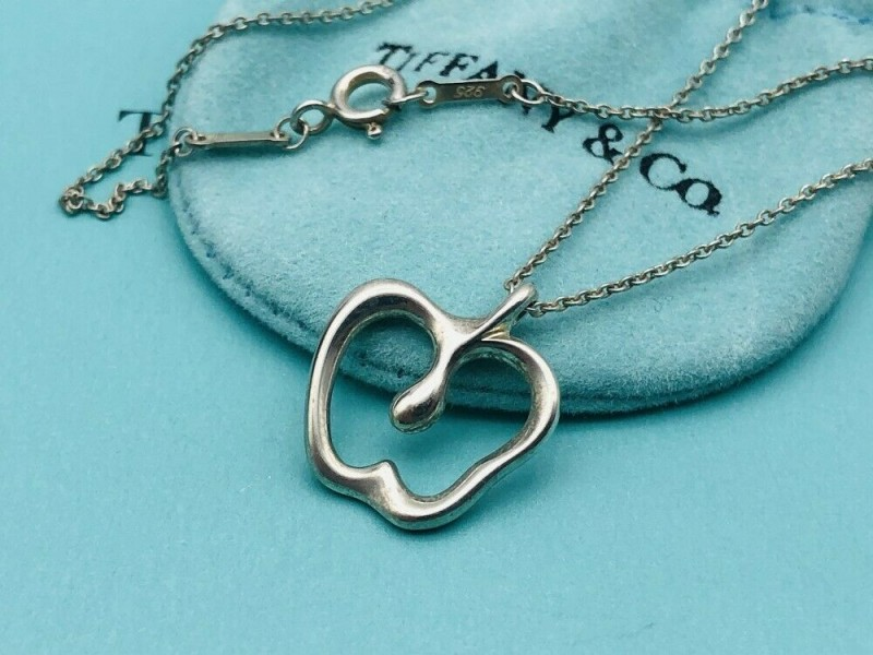 TIFFANY & Co. silver apple necklace