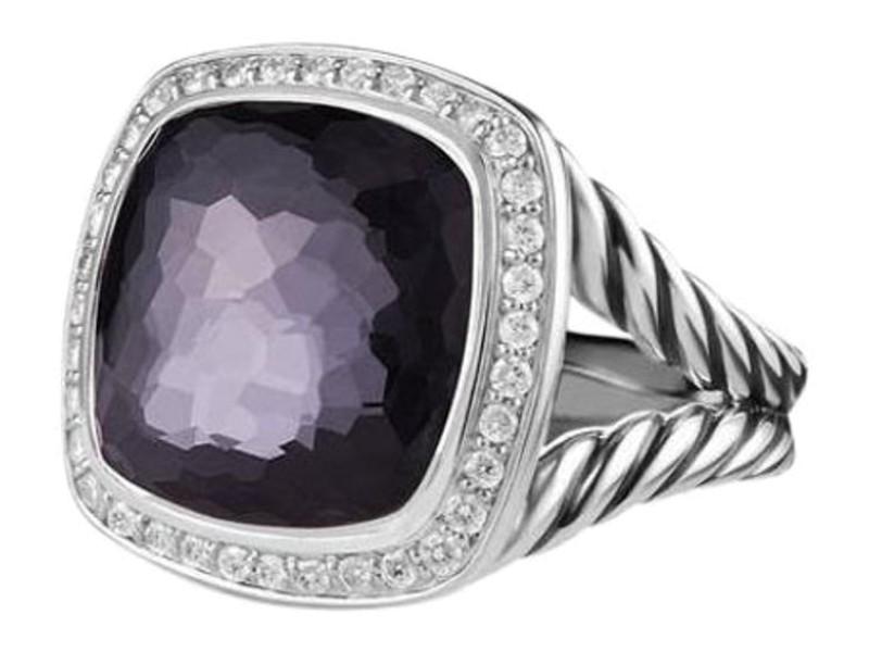 David Yurman Sterling Silver & 0.22ct Diamond Albion Ring Sz 7