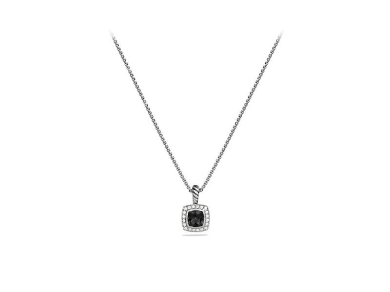 44375ec25aa3 David Yurman Sterling Silver Black Onyx   Diamond Petite Albion Pendant  Necklace