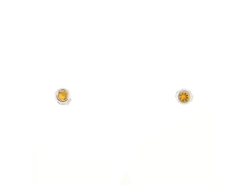 Tiffany & Co. Color By The Yard Stud Earrings Sterling Silver with Citrine