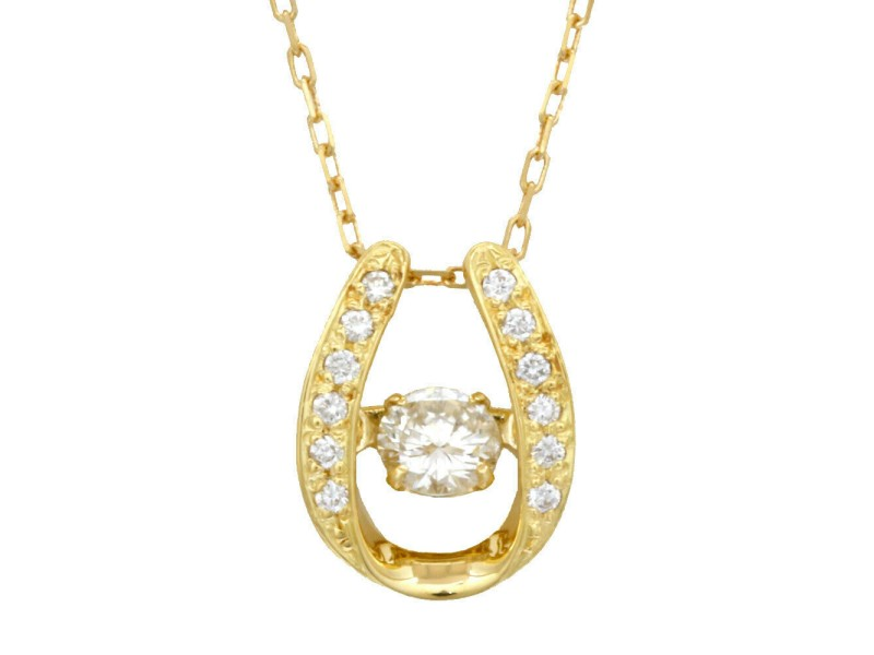 18k Gold and Diamond Dancing Azuki Necklace