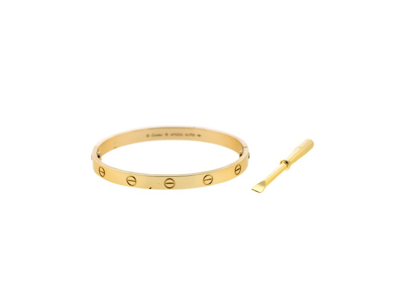 Cartier Yellow Gold Love Bracelet Size 18