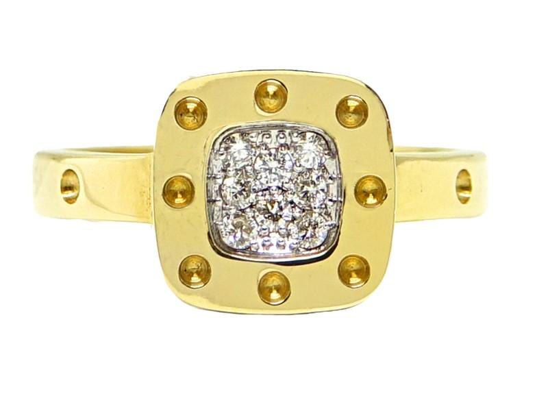 Roberto Coin Pois Moi Ring, Yellow Gold, Size 6.5